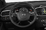 Car pictures of steering wheel view of a 2019 KIA Sorento SX Limited 5 Door SUV