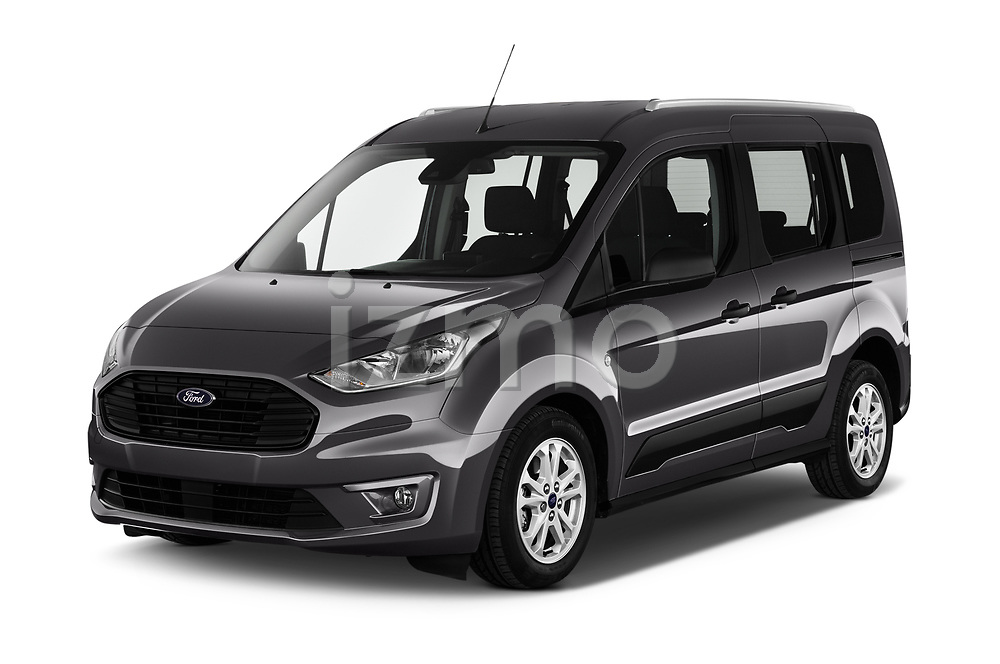 2019 Ford Tourneo-Connect Trend 5 Door Mini Mpv Angular Front automotive stock photos of front three quarter view