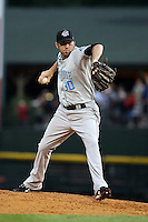 August 28 2008:  Starting pitcher Shaun Marcum of the Syracuse Chiefs, Class-AAA affiliate of the Toronto Blue Jays, during a game at Frontier Field in Rochester, NY.  Photo by:  Mike Janes/Four Seam Images