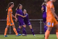 Anderlecht midfielder Tine De Caigny (6) scores and Anderlecht celebrates during a female soccer game between RSC Anderlecht Dames and AA Gent Ladies on the seventh matchday of the 2020 - 2021 season of Belgian Womens Super League , friday 13 th of November 2020  in Overijse , Belgium . PHOTO SPORTPIX.BE | SPP | STIJN AUDOOREN