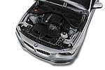 Car Stock 2018 BMW 3-Series 320i 4 Door Sedan Engine  high angle detail view
