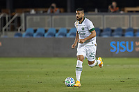 SAN JOSE, CA - SEPTEMBER 19: Bill Tuiloma #25 of the Portland Timbers controls the ball during a game between Portland Timbers and San Jose Earthquakes at Earthquakes Stadium on September 19, 2020 in San Jose, California.