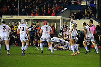 John Cooney of Ulster in action during the Guinness Pro14 Round 15 match between the Ospreys and Ulster Rugby at Morganstone Brewery Field in Bridgend, Wales, UK. Friday 15 February 2019