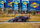 NHRA Mello Yello Drag Racing Series<br /> AAA Texas NHRA FallNationals<br /> Texas Motorplex<br /> Ennis, TX USA<br /> Saturday 14 October 2017 Alexis DeJoria, Patron, funny car, Toyota, Camry<br /> <br /> World Copyright: Mark Rebilas<br /> Rebilas Photo
