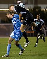 Number one seed University of North Carolina Tarheels against Coastal Carolina Chanticleers at UNC's Fetzer Field.  UNC won 3-2.