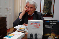 Zagreb / Croatia 2011.Predrag Matvejevi (Mostar 1932) is Bosnian writer known for his writing as well as for his political activism. His book Mediterranean Breviary has been a bestseller in many European countries, and has been translated into more than 20 languages..Photo Livio Senigalliesi