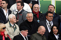 SWANSEA, WALES - FEBRUARY 21: Neath MP Peter Hain (C) during the Barclays Premier League match between Swansea City and Manchester United at Liberty Stadium on February 21, 2015 in Swansea, Wales.