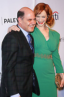 """HOLLYWOOD, LOS ANGELES, CA, USA - MARCH 21: Matthew Weiner, Christina Hendricks at the 2014 PaleyFest - """"Mad Men"""" held at Dolby Theatre on March 21, 2014 in Hollywood, Los Angeles, California, United States. (Photo by Celebrity Monitor)"""
