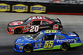 #20: Christopher Bell, Joe Gibbs Racing, Toyota Camry Rheem, #55: Bayley Currey, J.P. Motorsports, Toyota Camry Prevagen