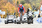 Lisa Brennauer (GER) CERATIZIT-WNT Pro Cycling Team in action during Stage 2 of the CERATIZIT Challenge by La Vuelta 2020, an individual time trial running 9.3km around Boadilla del Monte, Spain. 6th November 2020.<br /> Picture: Antonio Baixauli López/BaixauliStudio | Cyclefile<br /> <br /> All photos usage must carry mandatory copyright credit (© Cyclefile | Antonio Baixauli López/BaixauliStudio)