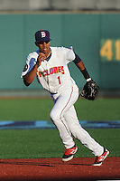 Brooklyn Cyclones infielder Amed Rosario (1) during game against the Aberdeen IronBirds at MCU Park on July 5, 2014 in Brooklyn, NY.  Aberdeen defeated Brooklyn 18-2.  (Tomasso DeRosa/Four Seam Images)