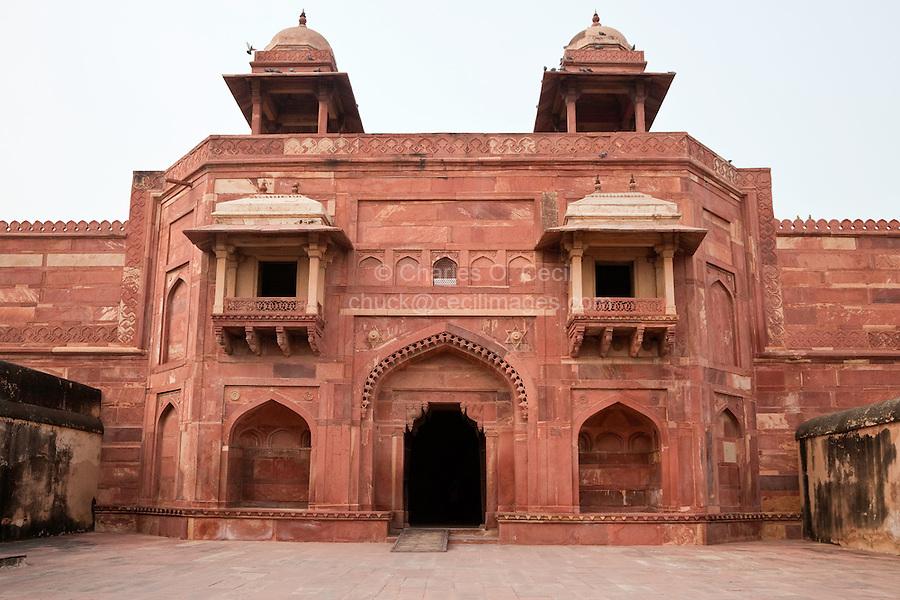 Fatehpur Sikri, Uttar Pradesh, India.  Jodhbai's Palace, Residence of the Emperor's Senior Wives.