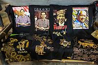 Yogyakarta, Java, Indonesia.  Presidential Election Campaign Posters, 2014.  Beringharjo Market.
