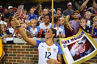 Cincinnati, OH - Tuesday September 19, 2017: Lynn Williams during an International friendly match between the women's National teams of the United States (USA) and New Zealand (NZL) at Nippert Stadium.