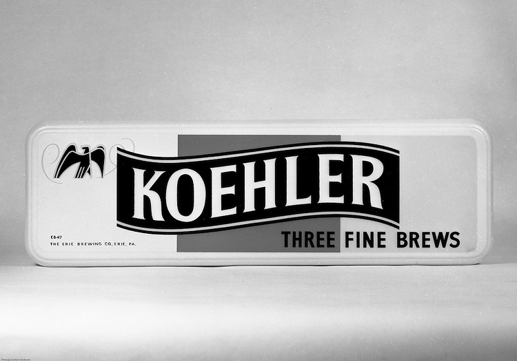 Client: Erie Brewing Company<br /> Ad Agency: Lando Advertising<br /> Contact: Mr. Scheidl<br /> Product: Koehler Beer<br /> Location:  Brady Stewart Studio at 725 Liberty Avenue in Pittsburgh<br /> <br /> Studio photography of Koehler Beer Ads and Signs for Bars and Restaurants.  Koehler Beer was the biggest selling brand for Erie Brewing Company. Erie went out of business in 1978