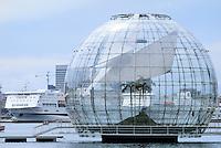 """- the """"sphere"""" of  Renzo Piano architect, realized in the Ancient Port of Genoa in occasion of  G 8 summit of July 2001....- la """"sfera"""" dell'architetto Renzo Piano, realizzata nel Porto Antico di Genova in occasione del summit G 8 del luglio 2001"""