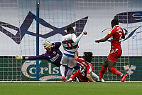Middlesbrough's Marcus Bettinelli attempts a save against Queens Park Rangers' Bright Osayi-Samuel<br /> <br /> Photographer Stephanie Meek/CameraSport<br /> <br /> The EFL Sky Bet Championship - Queens Park Rangers v Middlesbrough - Saturday 26th September 2020 - Loftus Road - London <br /> <br /> World Copyright © 2020 CameraSport. All rights reserved. 43 Linden Ave. Countesthorpe. Leicester. England. LE8 5PG - Tel: +44 (0) 116 277 4147 - admin@camerasport.com - www.camerasport.com