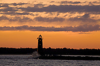 Lake Michigan, Manistique, Michigan, Manistique Lighthouse
