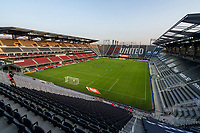 WASHINGTON, DC - SEPTEMBER 06: Players kneel on the pitch at Audi Field during a game between New York City FC and D.C. United at Audi Field on September 06, 2020 in Washington, DC.