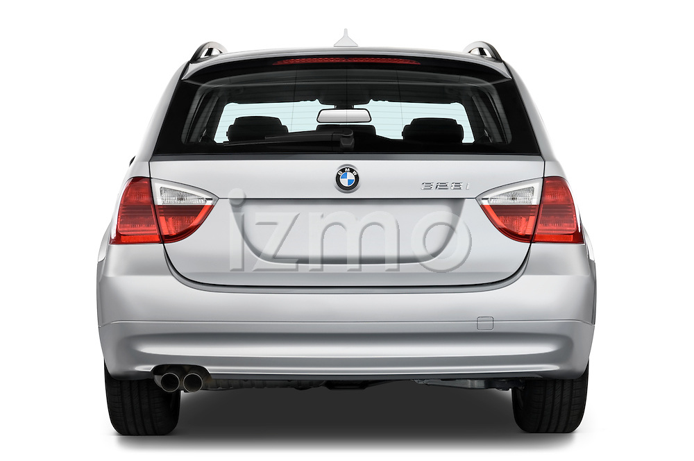 Straight rear view of a 2005 - 2008 BMW 3-Series 328i Wagon.