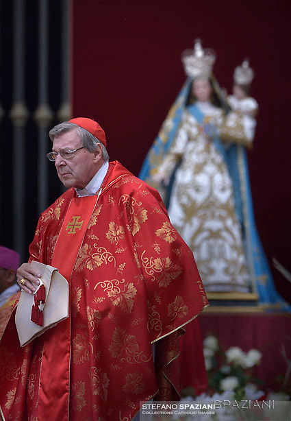 Cardinal George Pell.Pope Francis   during  the holy mass of Pentecost Sunday at St Peter's square in Vatican. on 4 June 2017