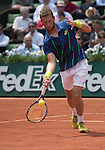May 25,2016:   Mathias Bourgue (FRA) loses to Andy Murray (GBR) 2-6, 6-2, 4-6, 6-2, 6-3, at the Roland Garros being played at Stade Roland Garros in Paris, .  ©Leslie Billman/Tennisclix/CSM