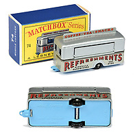 BNPS.co.uk (01202 558833)<br /> Pic: Vectis/BNPS<br /> <br /> Pictured:  Matchbox Regular Wheels 74a Mobile Refreshments Canteen<br /> <br /> One man's vast collection of model cars amassed over a lifetime has sold at auction for an incredible £250,000.<br /> <br /> Simon Hope, 68, has been collecting matchbox models since he was a small child and has bought over 4,000 over the past six decades.<br /> <br /> His hobby has cost him thousands of pounds and at and engulfed a huge slice of his life but he has now decided to part with the toys