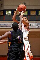 SAN ANTONIO, TX - NOVEMBER 9, 2007: The Hardin-Simmons University Cowboys vs. The University of Texas at San Antonio Roadrunners Men's Basketball at the UTSA Convocation Center. (Photo by Jeff Huehn)