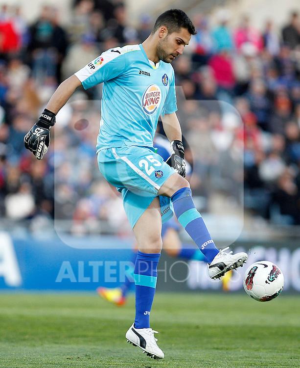 Getafe's Miguel Angel Moya during La Liga match.March 17,2012. (ALTERPHOTOS/Acero)