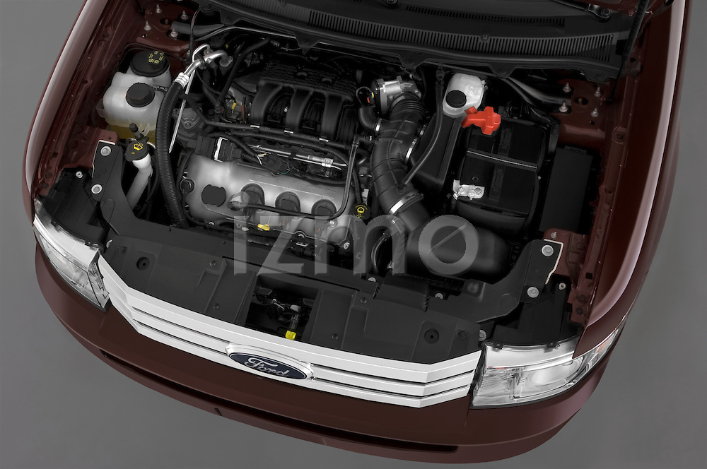 High angle of the engine on a 2009 Ford Flex