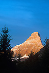 Sunrise on mountain peak in Glacier National Park