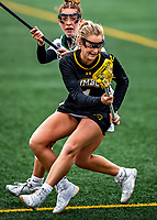 17 April 2021: UMBC Retriever Midfielder Megan Halczuk, a Sophomore from Fawn Grove, PA, in action against the University of Vermont Catamounts at Virtue Field in Burlington, Vermont. The Catamounts fell to the Retrievers 11-8 in the America East Women's Lacrosse matchup. Mandatory Credit: Ed Wolfstein Photo *** RAW (NEF) Image File Available ***