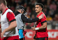 Sione Havili during the 2021 Super Rugby Aotearoa final between the Crusaders and Chiefs at Orangetheory Stadium in Christchurch, New Zealand on Saturday, 8 May 2021. Photo: Joe Johnson / lintottphoto.co.nz