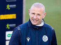 5th April 2021; Palmerston Park, Dumfries, Scotland; Scottish Cup Third Round, Queen of the South versus Hibernian; Allan Johnston QOTS Manager ahead of kick off
