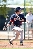 Cleveland Indians catcher Simeon Lucas (17) during an Instructional League game against the Seattle Mariners on October 1, 2014 at Goodyear Training Complex in Goodyear, Arizona.  (Mike Janes/Four Seam Images)