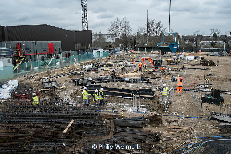 A2Dominion Housing Group builds 210 flats for sale, 56 social rent. Parcel Force depot site, Cricklewood, London.
