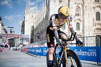 Koen Bouwman (NED/Jumbo-Visma) finishing in front of the Duomo in Milan<br /> <br /> 104th Giro d'Italia 2021 (2.UWT)<br /> Stage 21 (final ITT) from Senago to Milan (30.3km)<br /> <br /> ©kramon