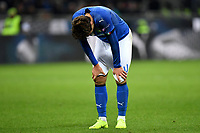 Federico Chiesa of Italy looks dejected during the Nations League League A group 3 football match between Italy and Portugal at stadio Giuseppe Meazza, Milano, November, 17, 2018 <br /> Foto Andrea Staccioli / Insidefoto