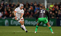 Saturday 7th December 2019 | Ulster Rugby vs Harlequins<br /> <br /> Luke Marshall during the Heineken Champions Cup Round 3 clash in Pool 3, between Ulster Rugby and Harlequins at Kingspan Stadium, Ravenhill Park, Belfast, Northern Ireland. Photo by John Dickson / DICKSONDIGITAL