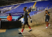 10th February 2021; Madejski Stadium, Reading, Berkshire, England; English Football League Championship Football, Reading versus Brentford; Ivan Toney of Brentford walking towards the pitch from the away tunnel before kick off