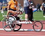 Michelle Stilwell, Toronto 2015 - Para Athletics // Para-athlétisme.<br /> Michelle Stilwell competes in the Women's 800m T53 Final // Michelle Stilwell participe à la finale du 800 m T53 féminin. 13/08/2015.