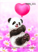 Kayomi, CUTE ANIMALS, paintings, PandaBaloon_M, USKH111,#AC# illustrations, pinturas ,everyday