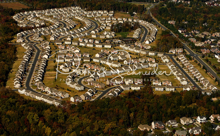 The morning sun casts a warm glow on this Charlotte, NC-area development.