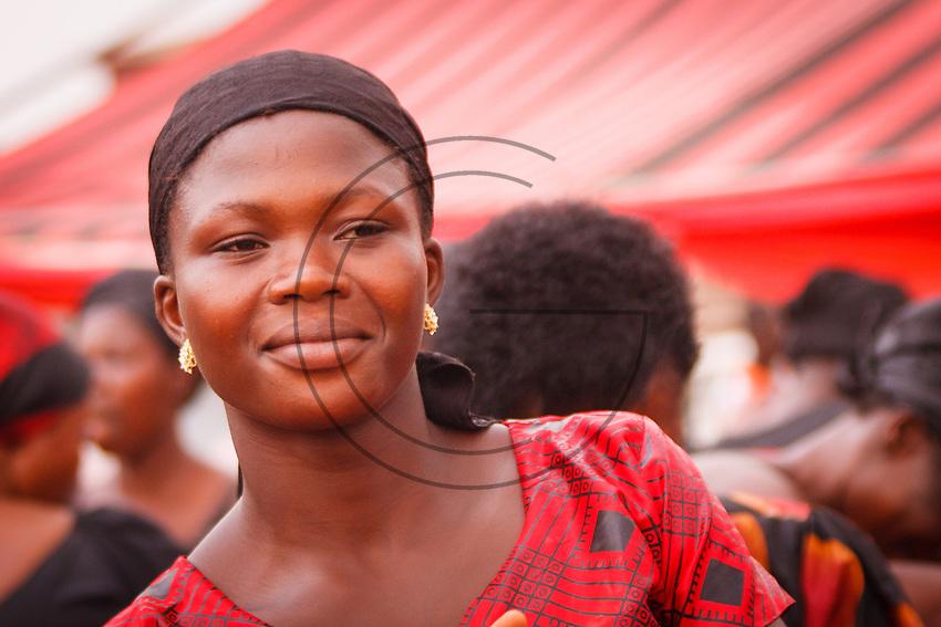 Africa,Ghana,Kumasi, Ashanti beautuful girl portrait  at funeral