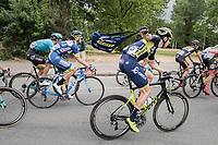 Jens Keukeleire (BEL/Orica Scott) fetching his musette<br /> <br /> 2017 National Championships Belgium - Elite Men - Road Race (NC)<br /> 1 Day Race: Antwerpen > Antwerpen (233km)