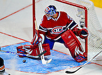 24 January 2009: Montreal Canadiens' goaltender Carey Price makes a save for the Sophomores in the YoungStars Game where the Rookies defeated the Sophomores 9-5 in the NHL SuperSkills Competition, part of the All-Star Weekend at the Bell Centre in Montreal, Quebec, Canada. ***** Editorial Sales Only ***** Mandatory Photo Credit: Ed Wolfstein Photo