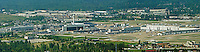 aerial photograph, United Parcel Service UPS Worldport,  Louisville International Airport, Sandiford Field, SDF, Louisville, Kentucky