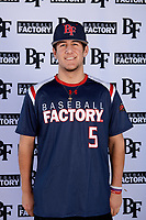 Perry Corda (5) of Methacton High School in Audubon, Pennsylvania during the Baseball Factory All-America Pre-Season Tournament, powered by Under Armour, on January 12, 2018 at Sloan Park Complex in Mesa, Arizona.  (Mike Janes/Four Seam Images)