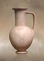"Minoan stone ewer jug from the  Knossos-Isopata ""Royal Tomb"" 1600-1500 BC BC, Heraklion Archaeological  Museum."