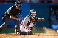 Wisconsin-Milwaukee Panthers catcher Daulton Varsho (10) during a game against the Bethune-Cookman Wildcats on February 26, 2016 at Chain of Lakes Stadium in Winter Haven, Florida.  Wisconsin-Milwaukee defeated Bethune-Cookman 11-0.  (Mike Janes/Four Seam Images)